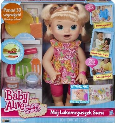 Hasbro Baby Alive B0632 Łakomczuszek Sara MÓWI PL
