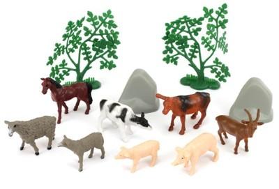 Gumowe Figurki Zwierząt Zwierzęta w Tubie