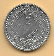 KAZACHSTAN - 3 TENGE - 1993