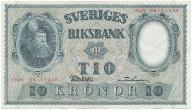 3946. Szwecja 10 kronor 1949 st.2-