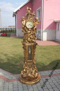 Wielki Zegar Stojący Złoty H197 Cm Gigant 5063780482