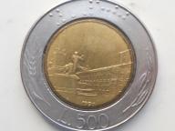 500 Lir Włochy Pomnik 1991