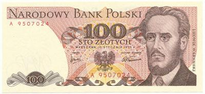 2563. 100 zł 1975 - A - st.1