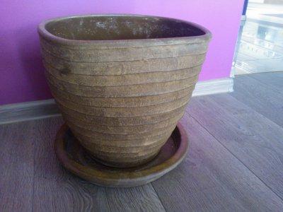 Duża Donica Doniczka Ceramiczna 32cm Leroy Merlin