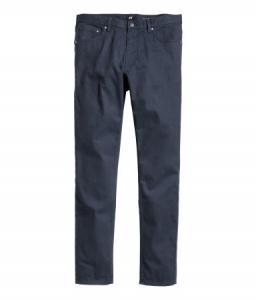 Spodnie z diagonalu H&M Granatowe roz.32