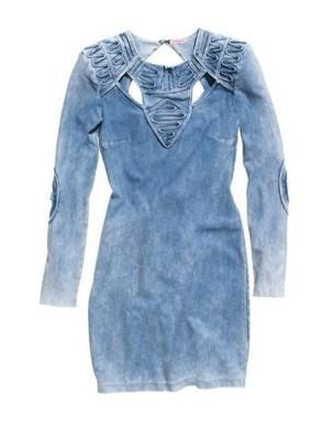 cf91cc434c H M AIDS sukienka jeansowa marmurkowa unikat - 6915285154 ...