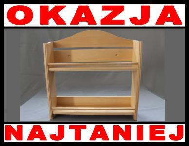 Półka Drewniana Na Przyprawy Do Kuchni Półki 5836111450