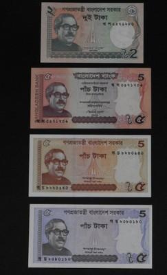 Bangladesz - zestaw 8 banknotów UNC + gratis