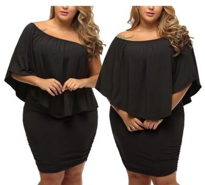 81319dfd6d Sukienka tuszująca mała czarna 22820 r. 42 do 54 - 6768201738 ...