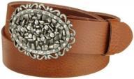 MGM Women's Belt, Braun (cognac), Small