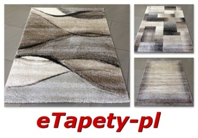 Dywan Elegant 200x290 Modne Dywany Kolor Szary Beż