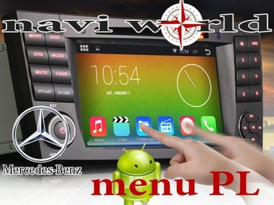 mercedes w211 e android 4 4 gps radio nawigacja 7. Black Bedroom Furniture Sets. Home Design Ideas