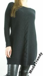 31ae482f56 MEGA SALE Tunika MITIKA sweter dzianinowy M CZARNY - 5807863028 ...