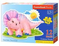 PUZZLE 12 MAXI - PINK BABY TRICERATOPS CASTOR