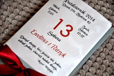 Zaproszenia ślubne Na ślub Cywilny Kalendarz 5360388207