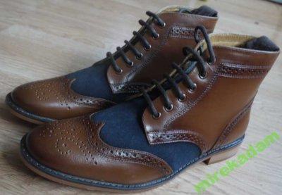 Buty wysokie męskie Materiał Skóra naturalna Rozmiar 42.5