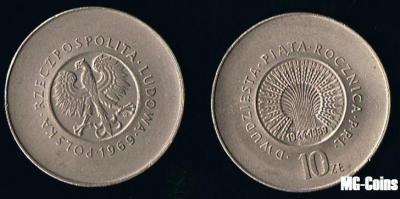 10 zł -1969- XXV rocznica PRL - Zobacz i kup !