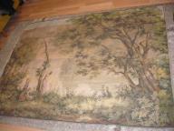 stara duża piękna gruba tkanina na ścianę 145x195