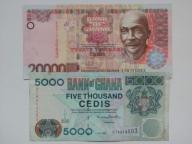 GHANA - 2 banknoty : 5.000 i 20.000 cedis