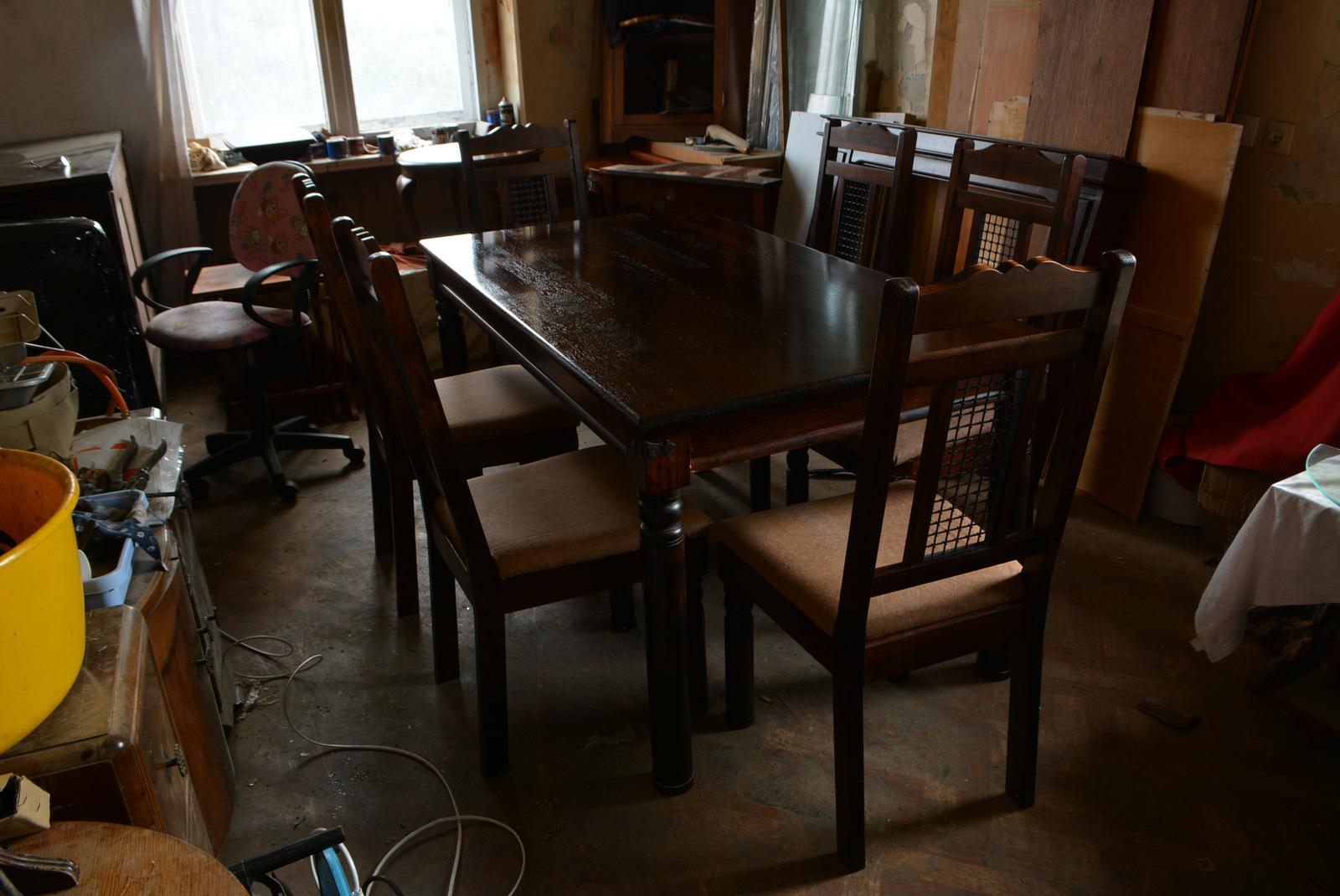 Piękny Stół Dębowy Z Krzesłami Komplet 7047456276 Oficjalne