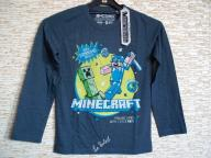 Bluzka długi rękaw Minecraft (wiek: 7-8)
