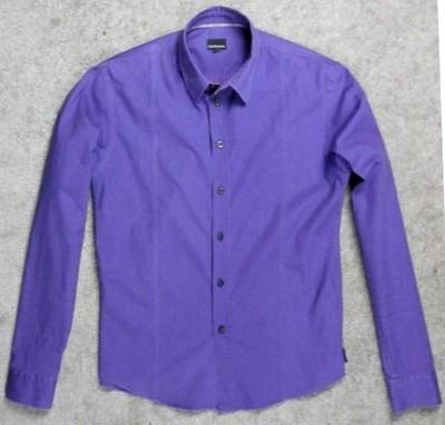 fioletowa koszula CALVIN KLEIN JEANS - M / S slim