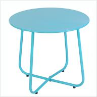 Stół okrągły, niebieski
