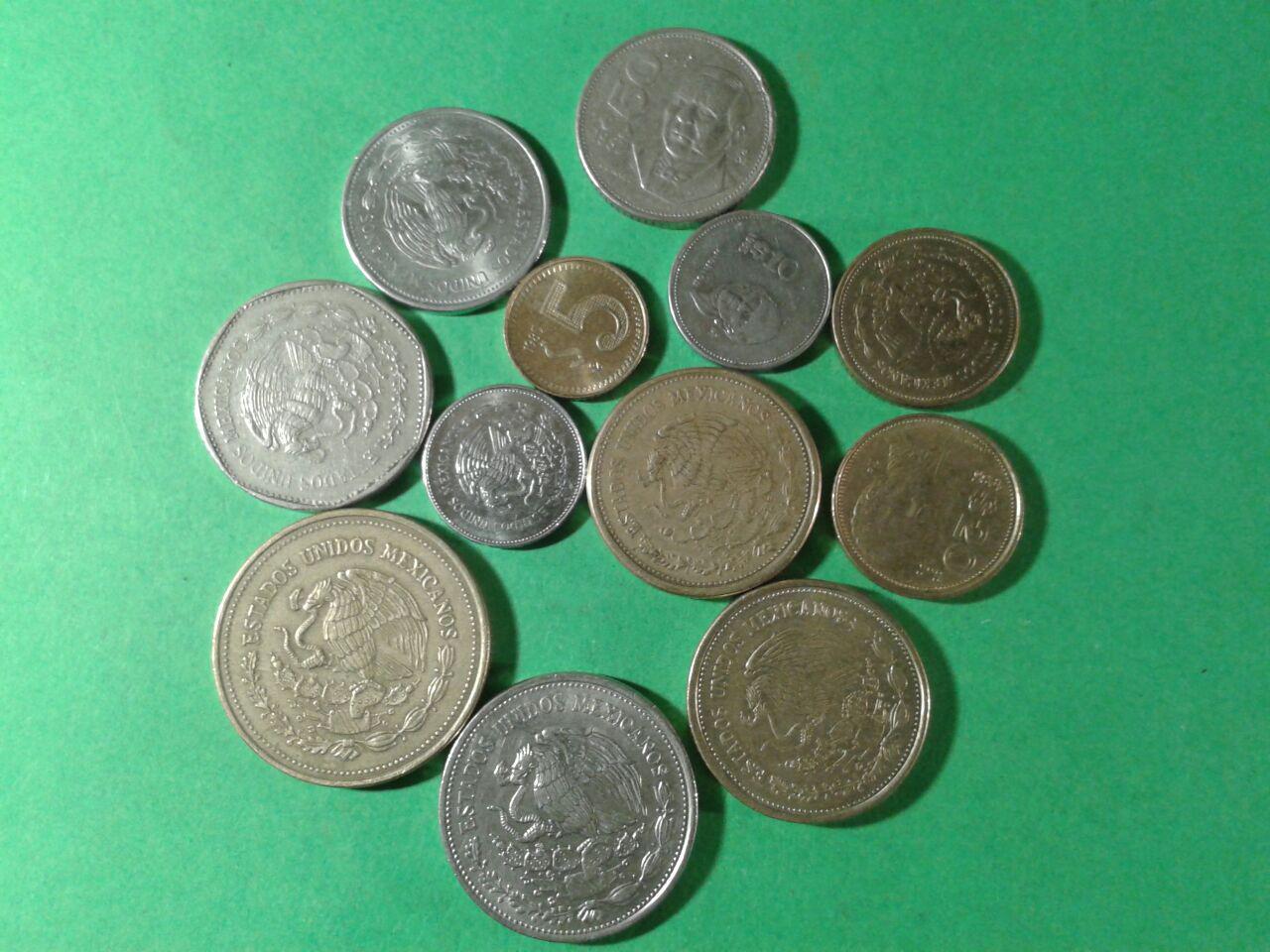 Meksyk monety 11 sztuk mix zestaw kolekcja