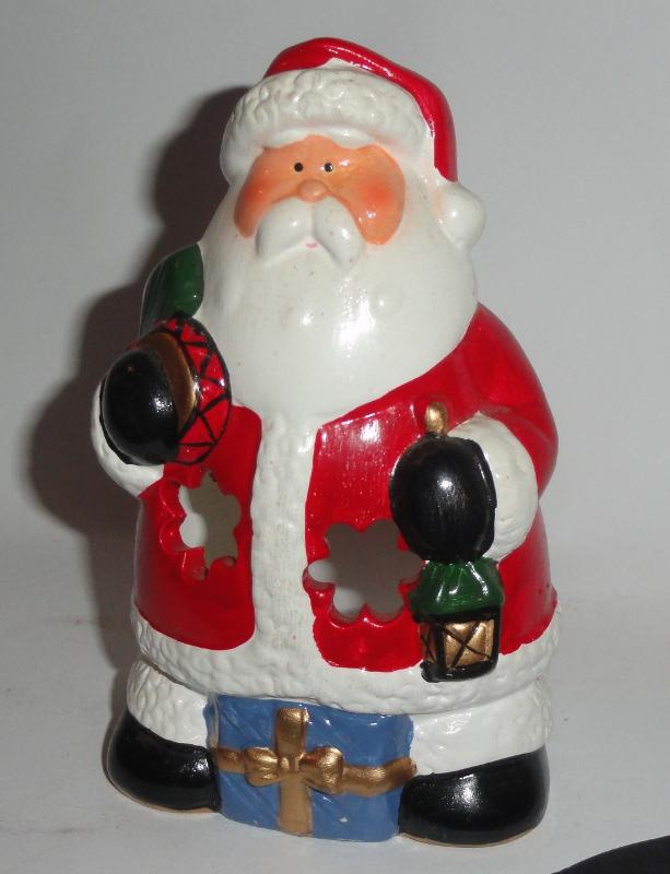 Świecznik kominek na świecę Mikołaj ozdoba święta