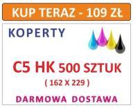 KOPERTY C5 HK 500 SZT Z NADRUKIEM I INNE DL C6 C4
