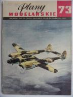 Plany Modelarskie nr 73/1976--P38 Lightning