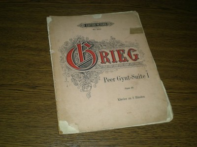 Edition Peters - GRIEG - Peer Gynt-Suite I - nuty