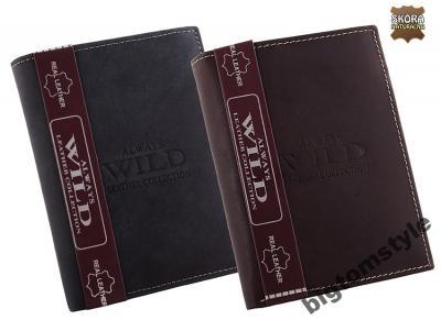 PORTFEL MĘSKI Always Wild SKÓRA NATURALNA 1072MHU