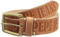 Pepe Jeans Men's Plain Belt, Brown (Cognac), 90 cm