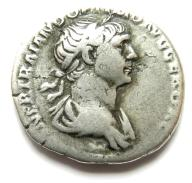 AC- TRAJAN (98-117), RZYM, denar, srebro, MARS! +