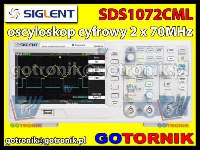 SIGLENT SDS1072CML 2 x 70MHz OsCyLoSkOp CyFrOwY !!