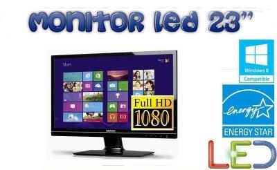 Monitor LED 23'' VGA,DVI,HDMI FullHD Głośniki 2ms