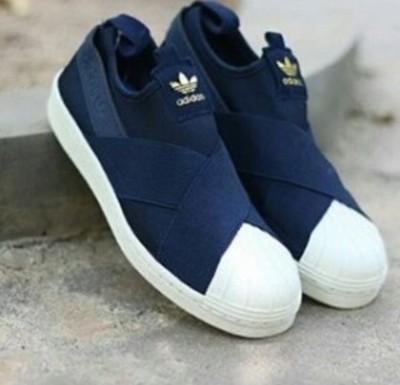 Adidas superstar slip on granatowe