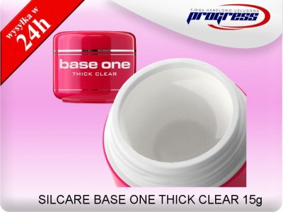 SILCARE BASE ONE BUDUJĄCY ŻEL UV THICK CLEAR 15G
