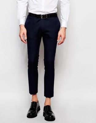 i8 spodnie ex ASOS super skinny stylowe W32 L32