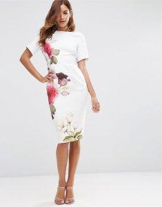 007632dda0 Sukienka ASOS 42 kwiaty MIDI NOWOŚĆ - 6255532318 - oficjalne ...