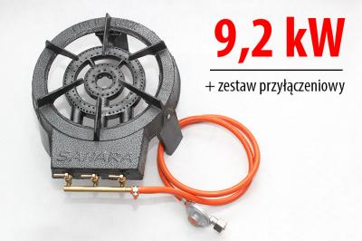 Taboret Gazowy żeliwny 92kw Zestaw Gazowy Film 4605874784