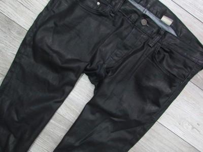 H&M czarne męskie spodnie jeansy W3436 L34