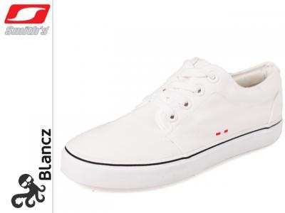 68c07ef537b16 Tenisówki/trampki Smiths 014 - damskie białe r. 37 - 4139992336 ...