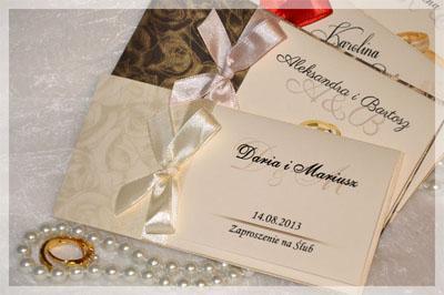 Zaproszenia ślubne Na ślub Cywilny Grube 5456198826