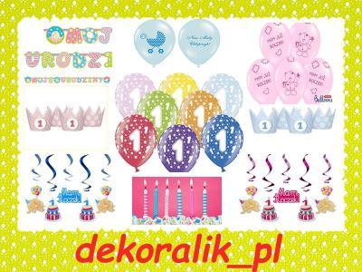 Zestaw Na Pierwsze Urodziny Roczek Dekoracje 6009831313