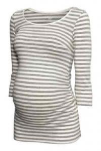Bluzka top H&M MAMA szara w paski  r.L/40