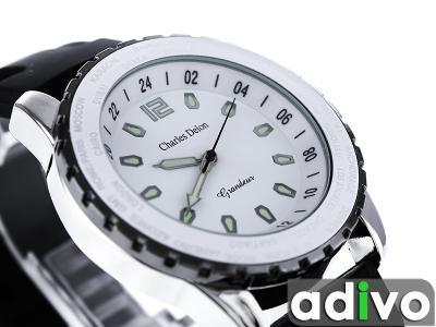 c40910686da42d Zegarek Męski Charles Delon Vulcan-BW Watch Zegar - 3565727146 ...
