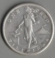 Filipiny / 1 peso / 1909 / srebro