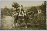 GENERAŁ TADEUSZ ADAM KASPRZYCKI NA KONIU ,1914 R